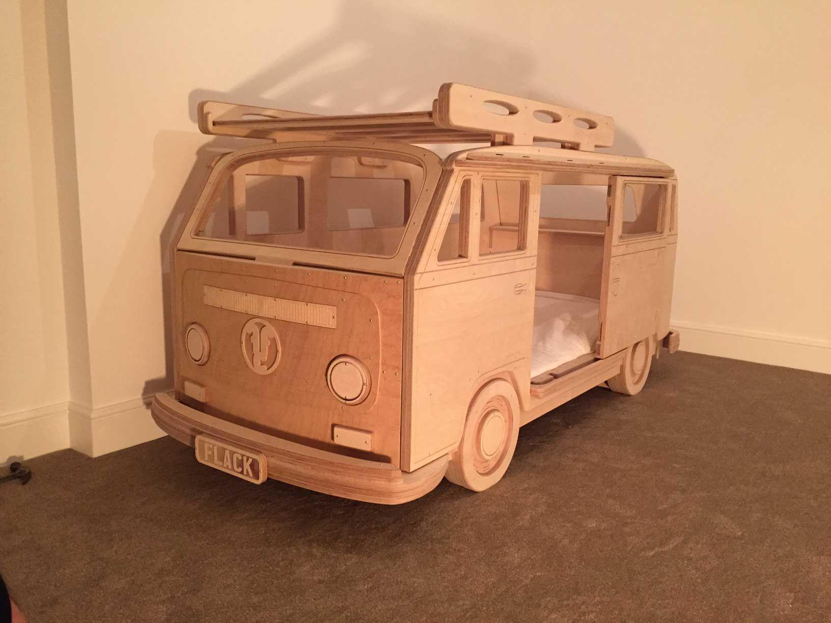 Bay Camper Van Single bed in Plywood unpainted by Fun