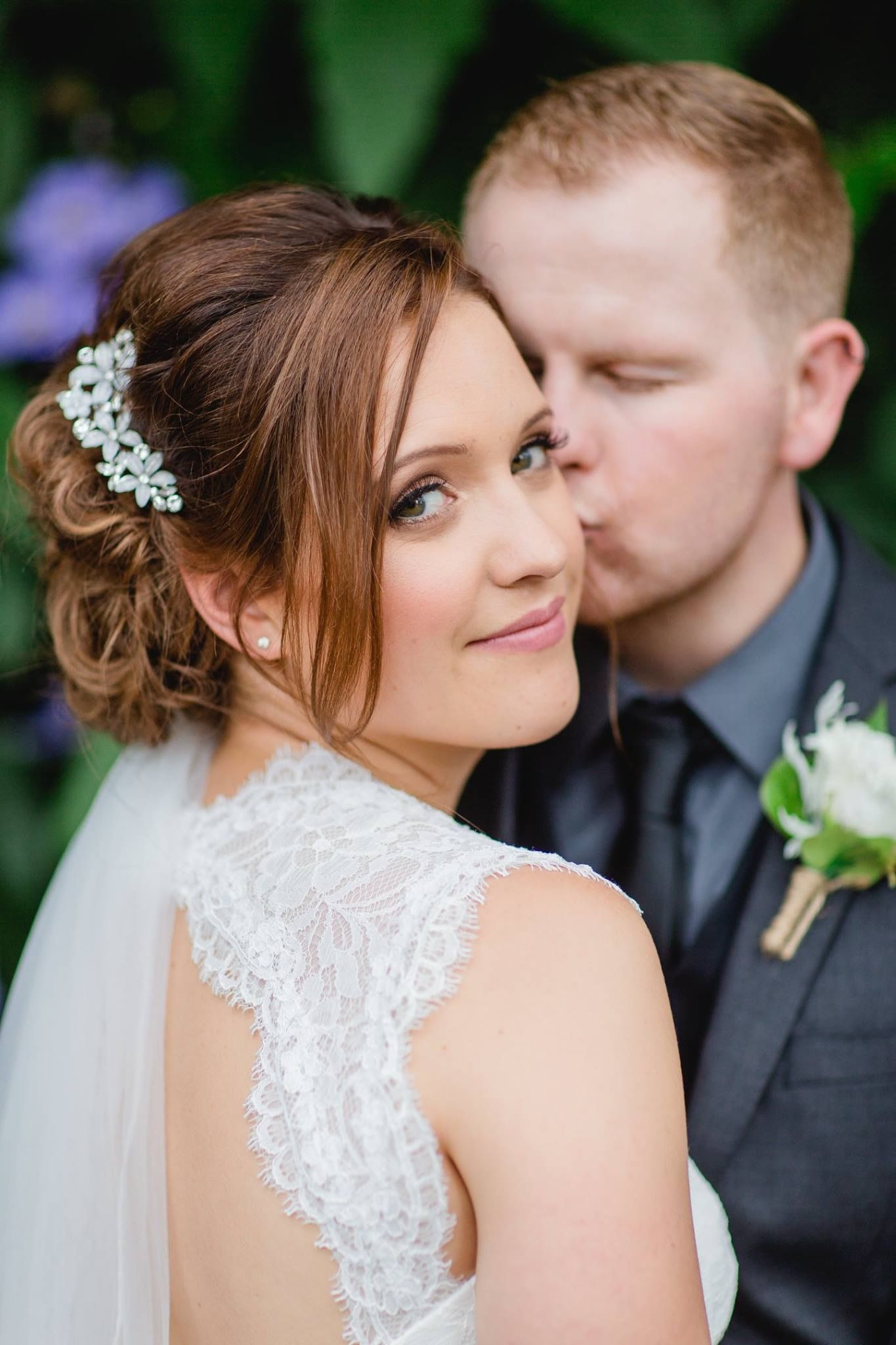 soft and natural wedding makeup. created using mac cosmetics by