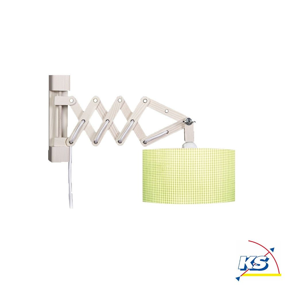 Kinderzimmer Wandlampe Vichy Hellgrun Made In Germany In 2020 Wandleuchte Wand Wandlampe