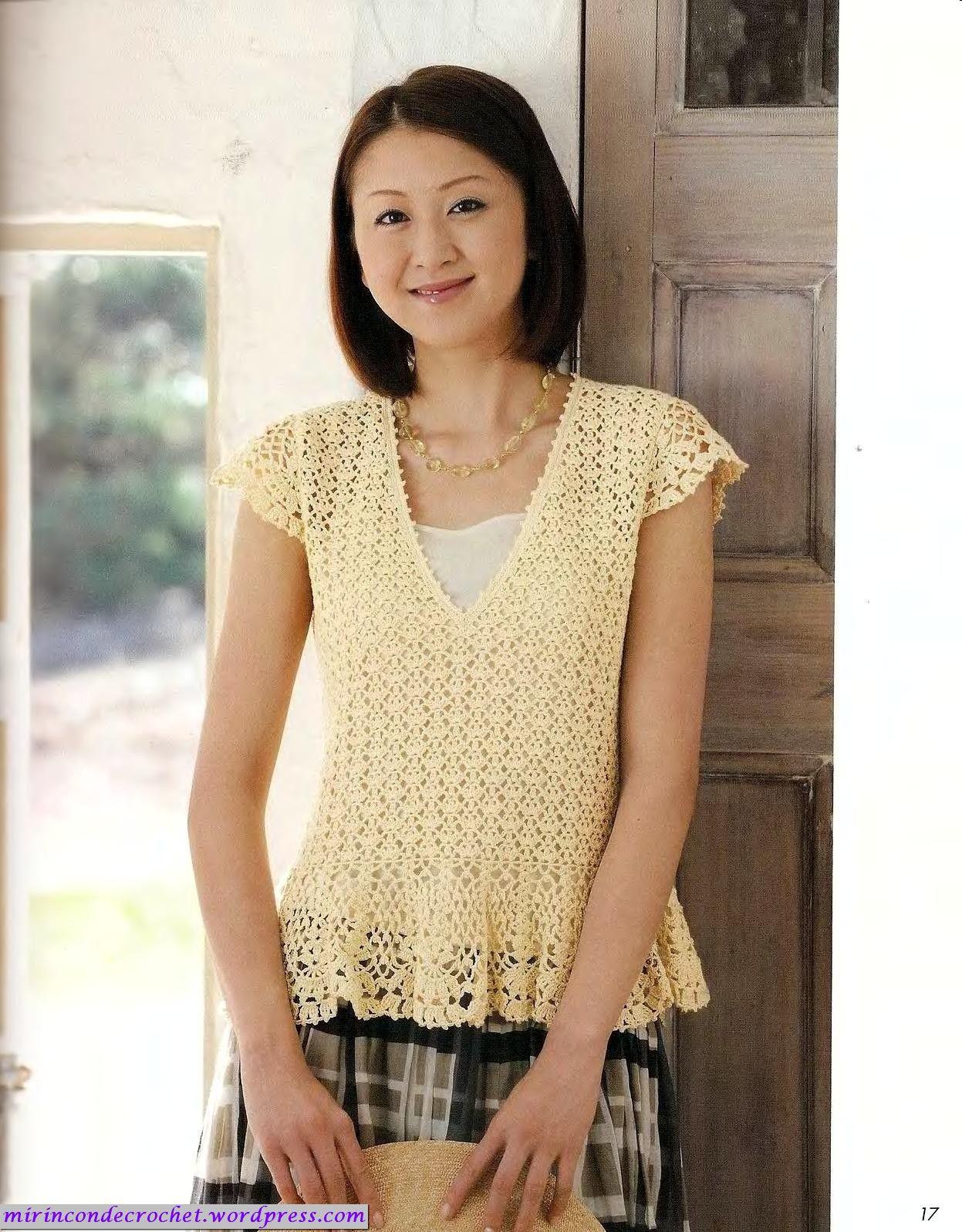 Blusa entallada | Mi Rincon de Crochet