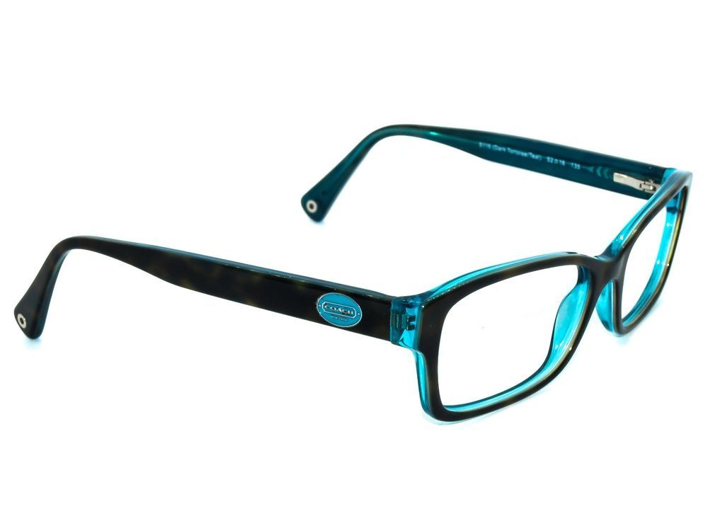 614400405418 Coach Eyeglasses HC6040 Brooklyn 5116 Tortoise Teal Rectangular Frame  52[]16 135 #Coach