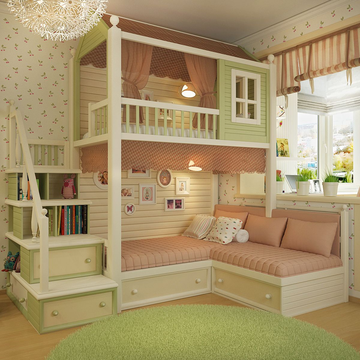 marvelous Pretty Bedrooms For Kids Part - 16: Bedroom Ideas, Kids Bedroom, Kids Rooms, Playhouses, Beautiful Bedrooms, Pretty  Bedroom, Beds, Child Room, Kidsroom