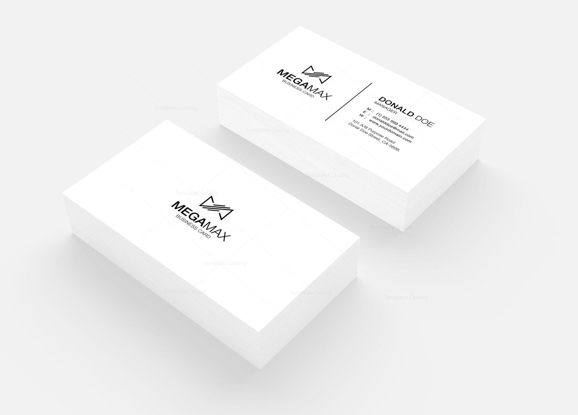 Minimal Black White Business Card Design 002424 Template Catalog White Business Card Design Minimal Business Card Black Business Card Design