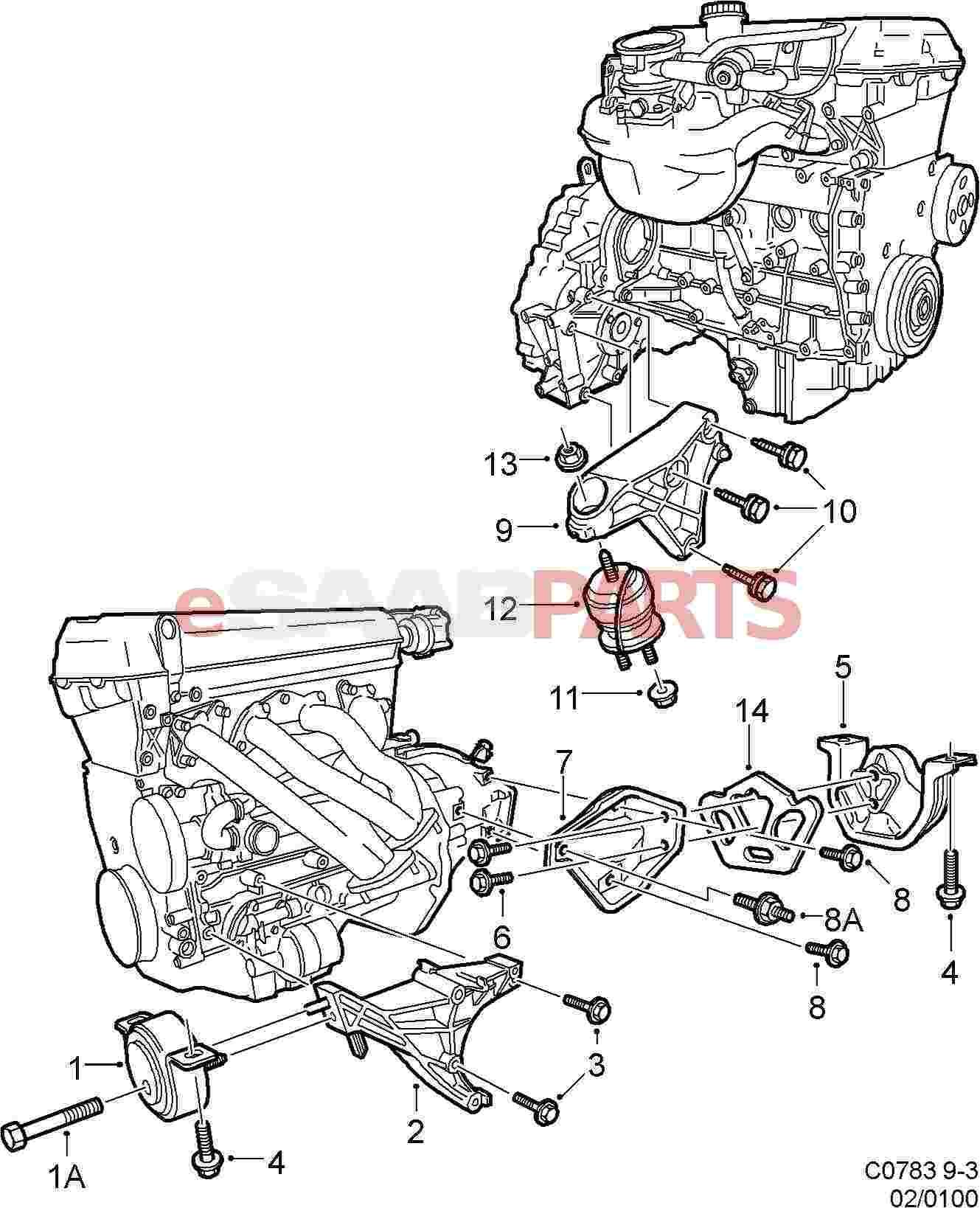 Saab 93 Engine Diagram