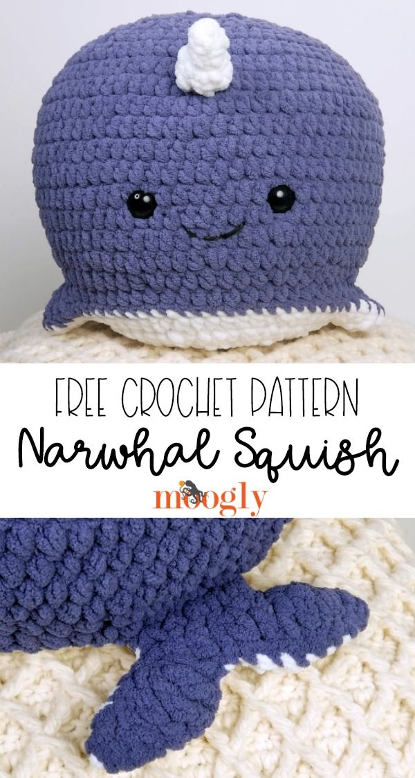 Narwhal Squish - Free Crochet Pattern on Moogly!