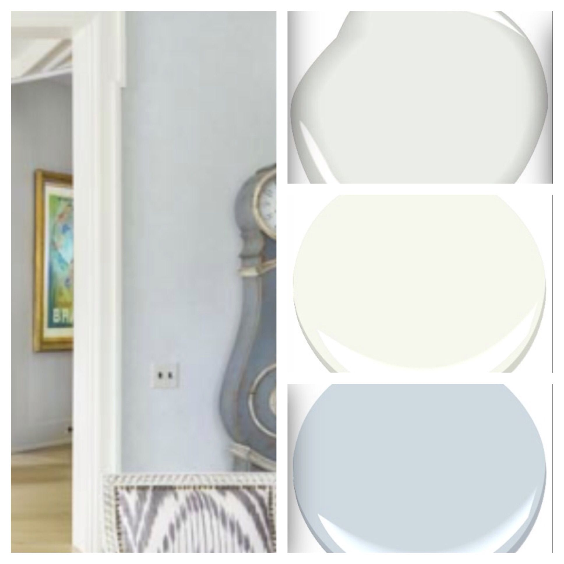Interior Paint Colors: Benjamin Moore, Ceiling White