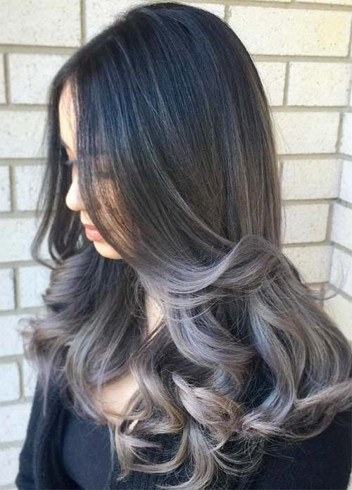 Recent Dark Grey Hair Color Idea For Coulour
