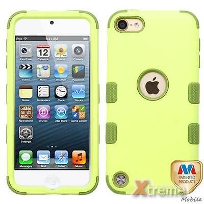 XM-For APPLE iPod touch (5th/6th generation) Green Tea/Olive TUFF Hybrid Case Co | eBay