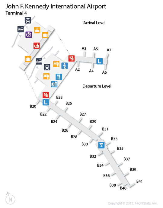 map of jfk terminal 4 Jfk John F Kennedy International Airport Terminal Map Airport map of jfk terminal 4
