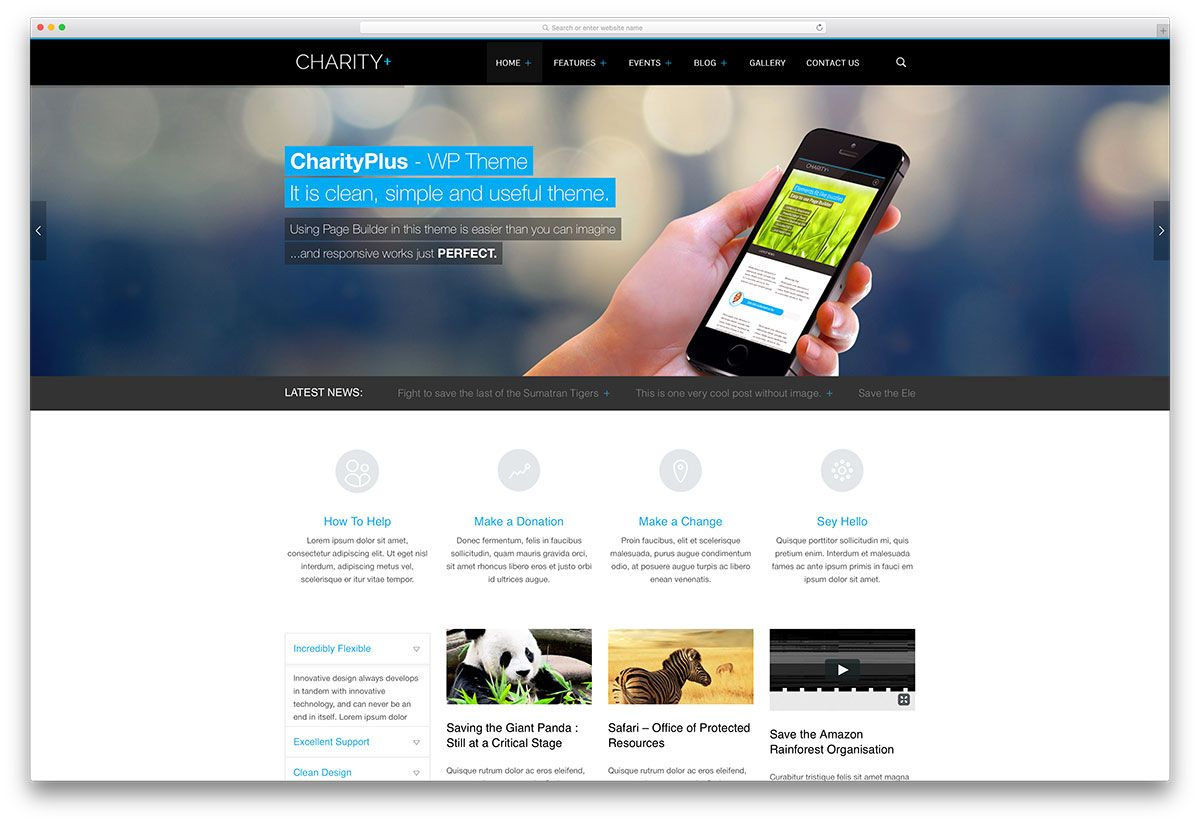 charity plust non profit website template