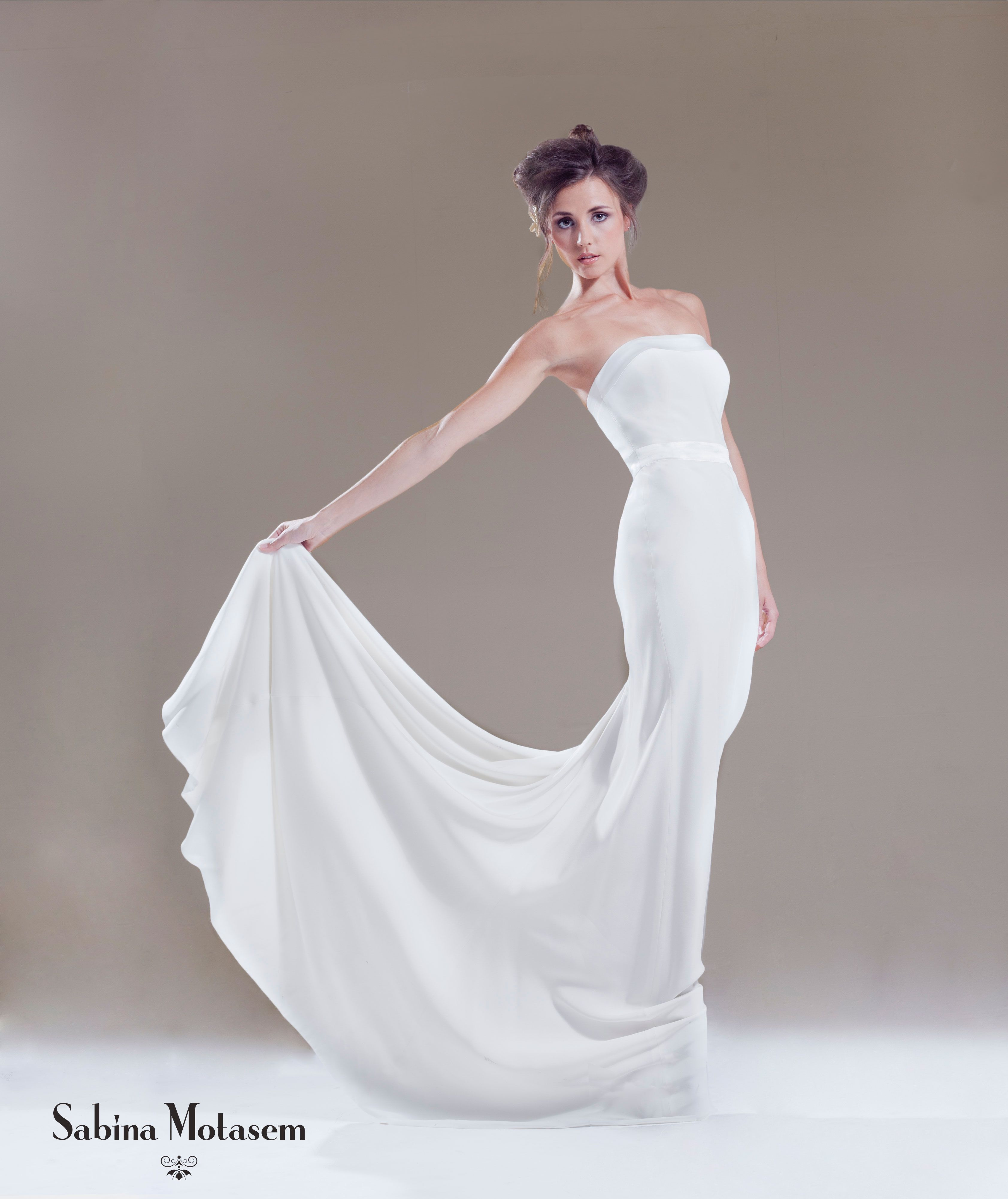 The maya dress sabina motasem a strapless bias cut silk crepe the maya dress sabina motasem a strapless bias cut silk crepe wedding dress ombrellifo Image collections