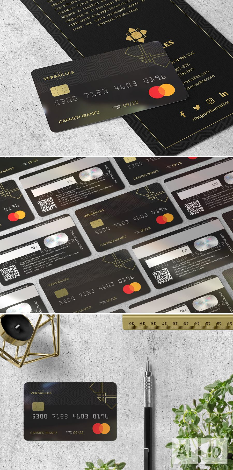 Grand Versailles Bank Card Bank Card Trifold Templates Luxury Card