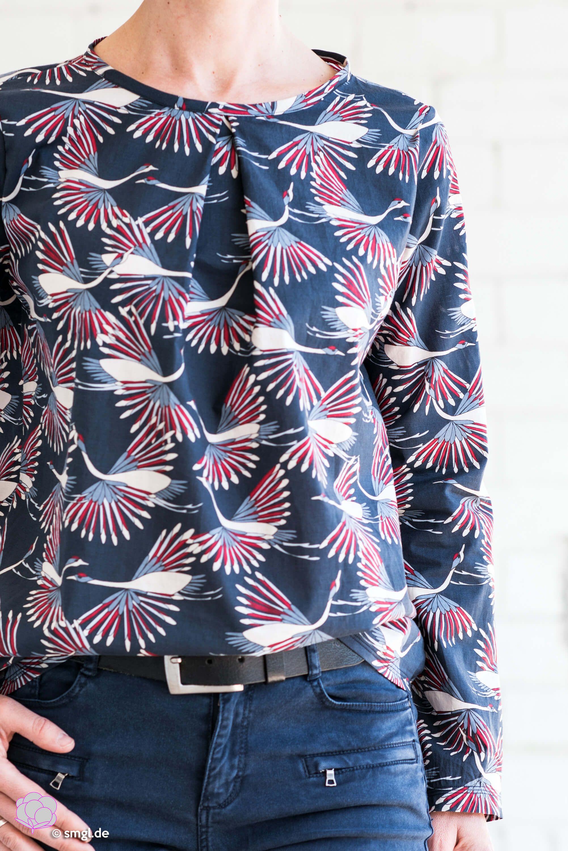 So nähst du eine schicke Bluse mit Kellerfalte einfach selber!