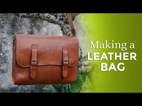 3) Making a Leather Bag ⧼Week 30 52⧽ - YouTube  564b2030f8811