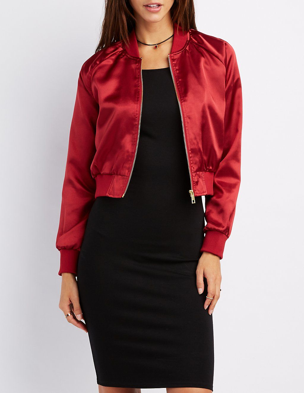 Satin Cropped Bomber Jacket Charlotte Russesatin Cropped Bomber Jacket Standard Price 32 99 Sales Price 23 09 Now 30 Off Read More At Http Bomber Svitshot [ 1326 x 1024 Pixel ]