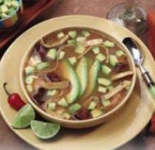 Avocado's favorite soup companion - chicken tortilla soup