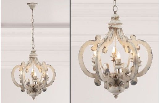 Our Distressed Wood Chandelier Is Affordable And Beautiful