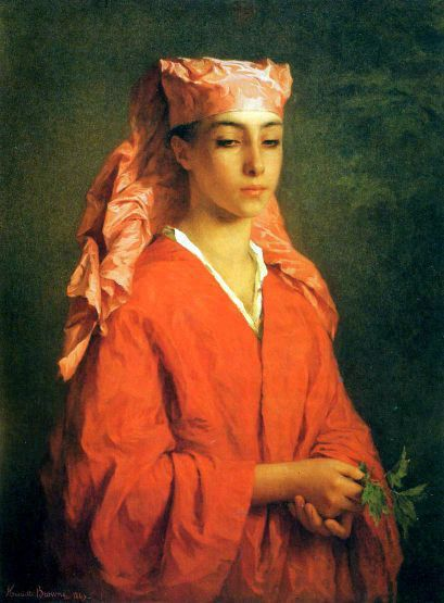 A North African Fellah. Henriëtte Browne. 1829-1901., French