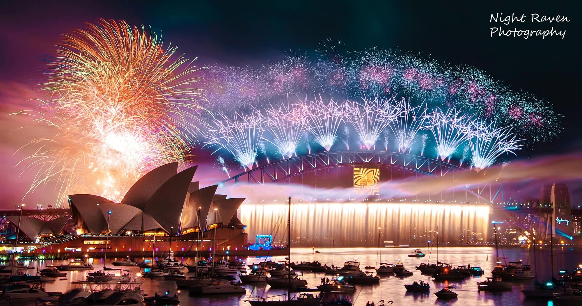 Sydney Nye Fireworks By Night Raven On 500px Sydney New Years