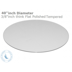 Gl Table Top 40 White Round Back Painted 3 8 Thick Flat