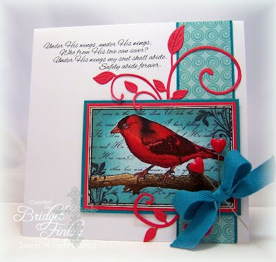 Bridget's Paper Blessings have to do some teal and red cards