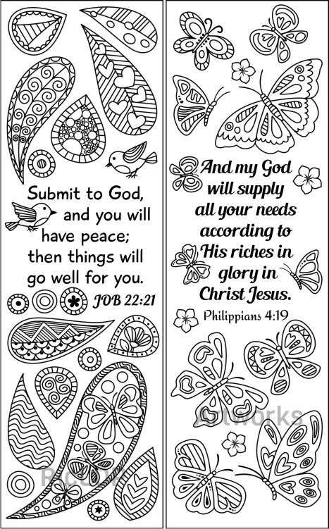 8 Bible Coloring Bookmarks Set 2 | Marcadores de libros | Pinterest ...