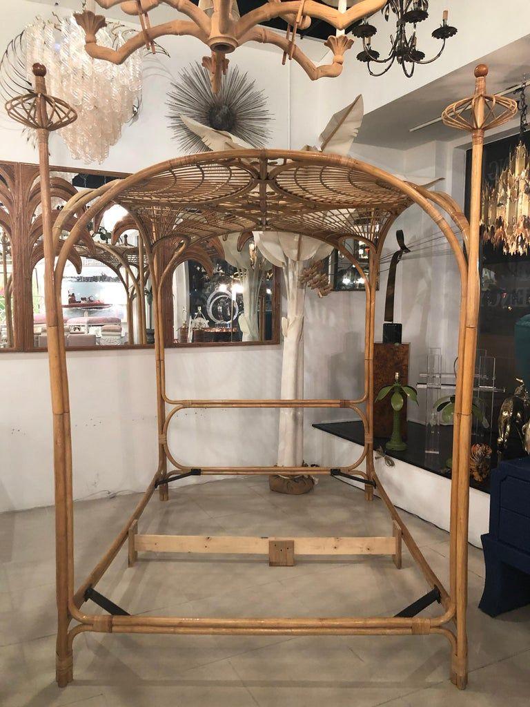 Best Vintage Palm Beach Tropical Rattan Bamboo Queen Size 400 x 300