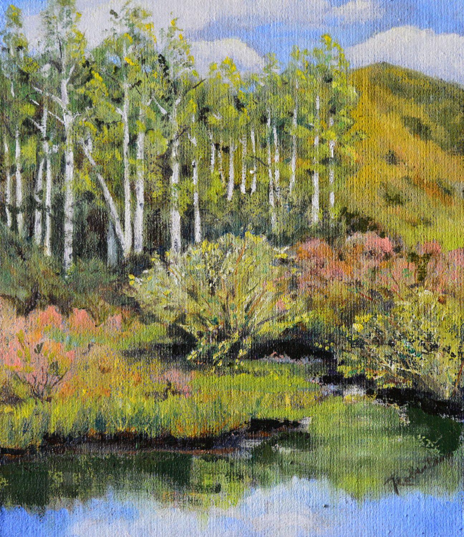Plein air painting original oil painting landscape meadow