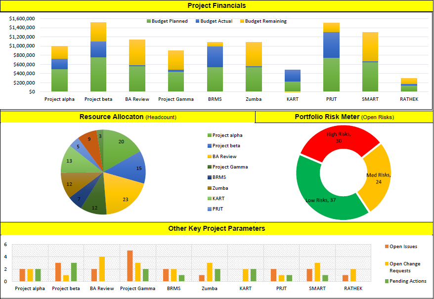 Project Portfolio Template Excel Ppm Pinterest Projects