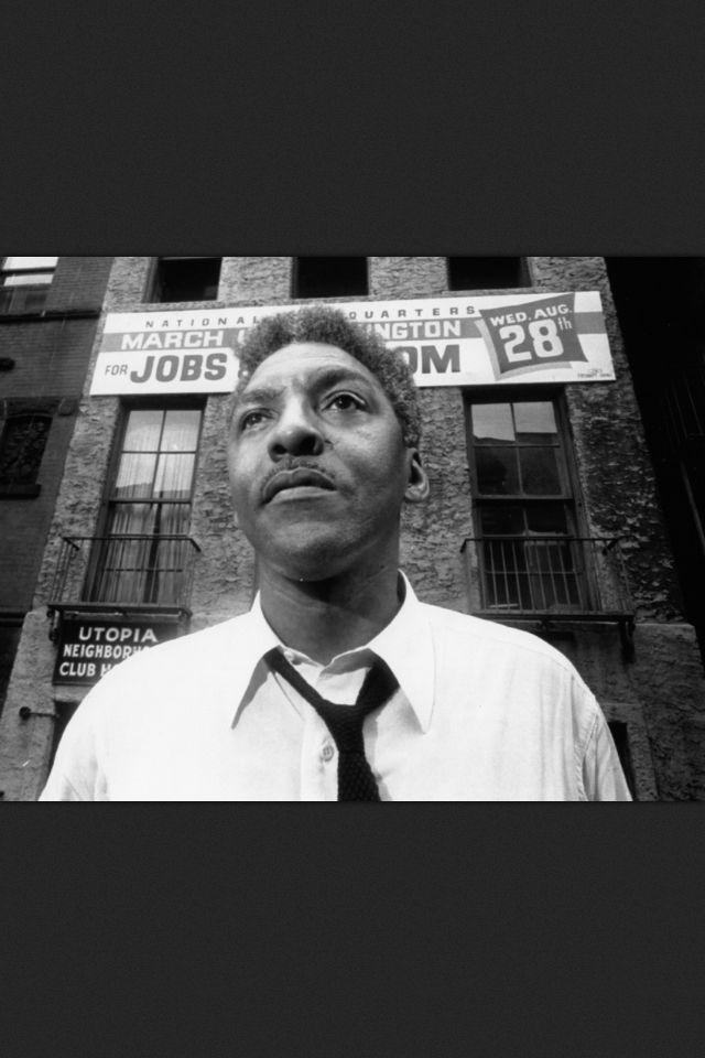 Bayard Rustin: Civil rights and gay rights activist.