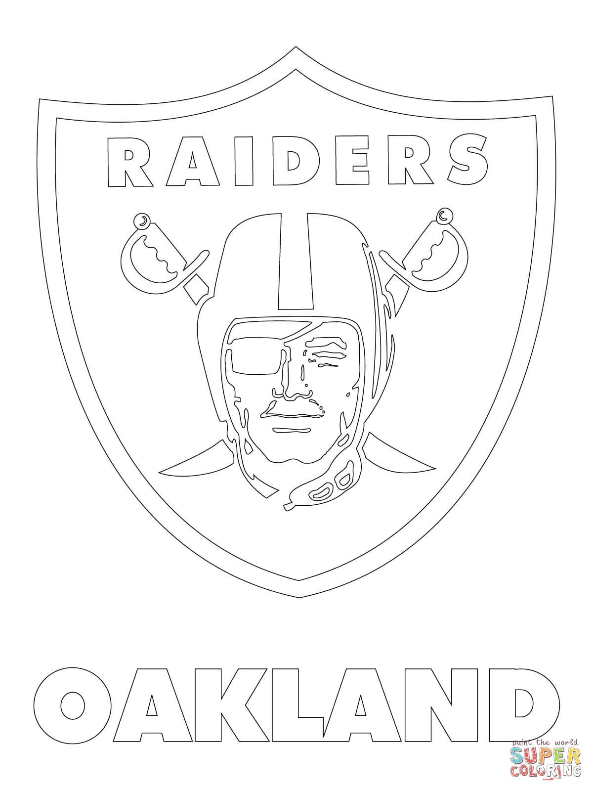 Oakland Raiders Logo Super Coloring Oakland Raiders Logo