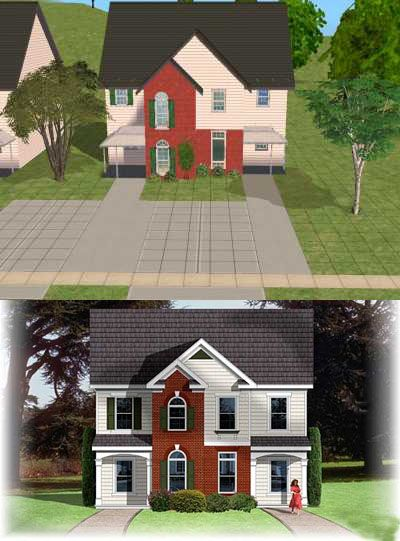 Mod The Sims - American Way™ 2 | Traditional  DUPLEX