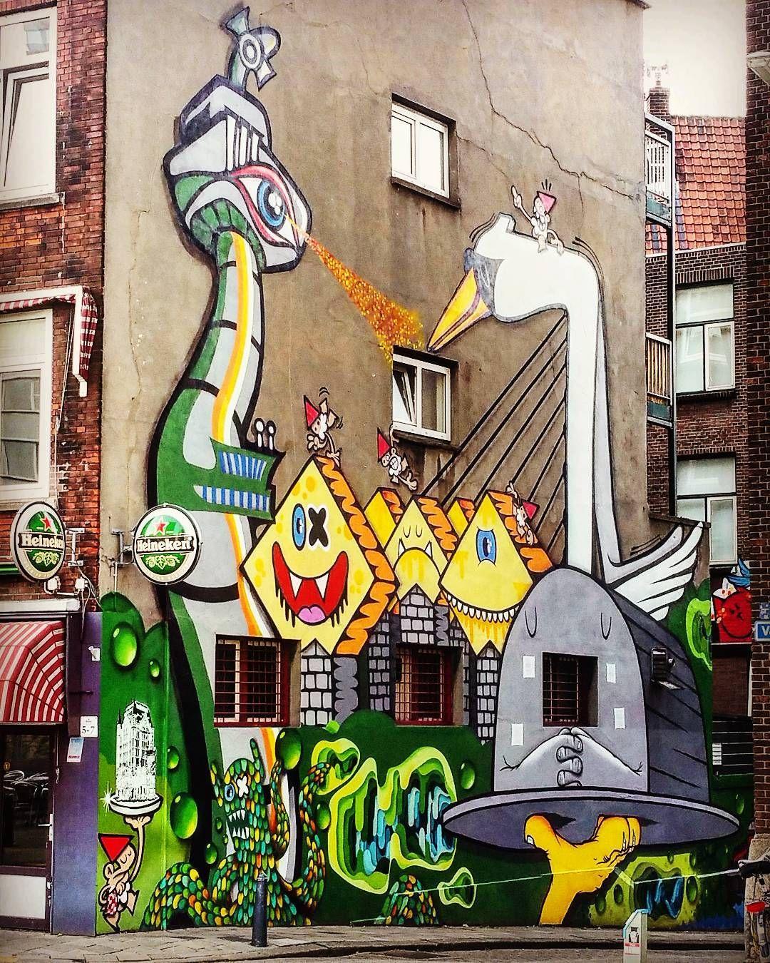 Rotterdam cafe graffiti street streetart day133 366project 2016 by mvdbphoto