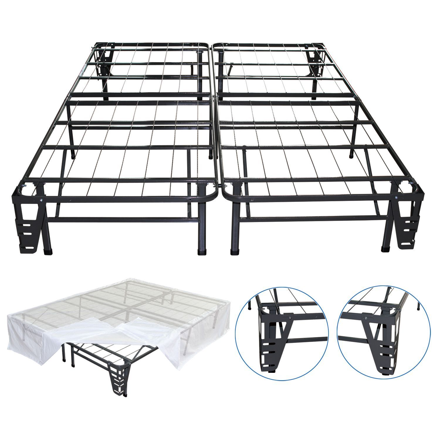 Night Therapy Smart Base Steel Bed Frame Queen Foundation Bed