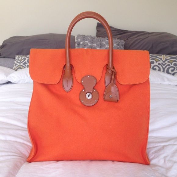 48f0fe4c9487 ... discount code for canvas leather ralph lauren ricky travel tote  authentic ralph lauren ricky tote. ...