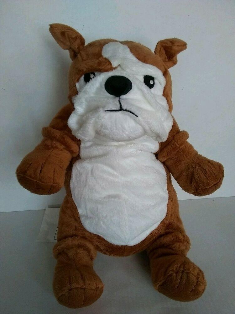 New Ikea Bulldog Klappar Plush Soft Toy 17 In Brown White Dog