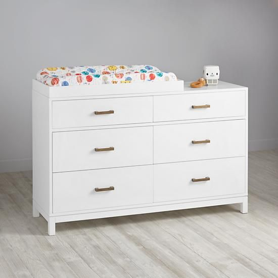 Cargo 6Drawer Changing Table White The Land of Nod 1029