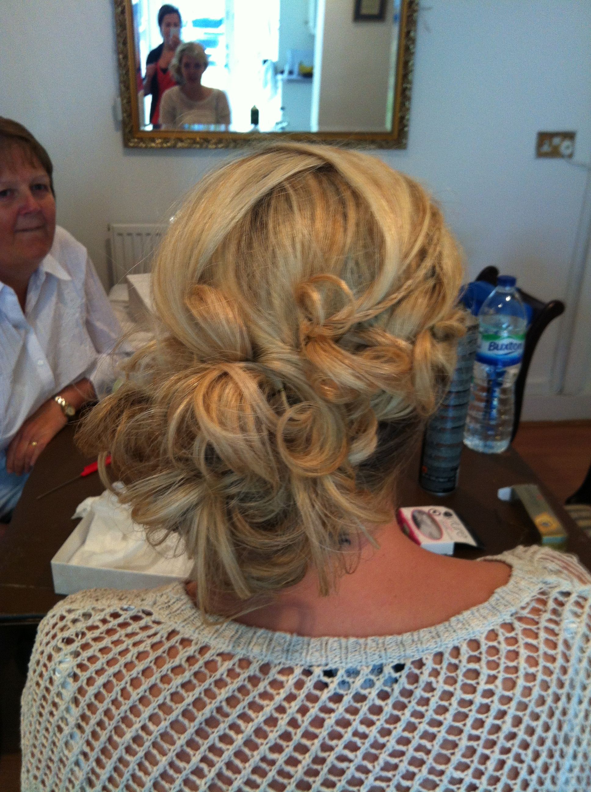 Bridal style messy side bun hair pinterest hair makeup beauty