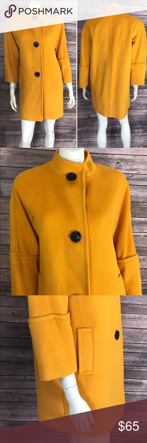 NWOT Talbots Coat 6 Mustard Yellow 3/4 Sleeve Measurements: (in inches) - Underarm to underarm: 20.5 - Length: 33.5 - Sleeve: 19.5  Excellent Condition, never worn Talbots Jackets & Coats