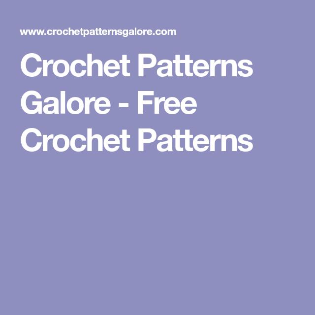 Crochet Patterns Galore Free Crochet Patterns crochet Extraordinary Crochet Patterns Galore