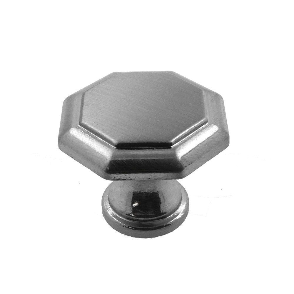 Octagon Brushed Nickel Knob Kitchen Cabinet Handle Drawer Pull Pantry  Dresser   EBay