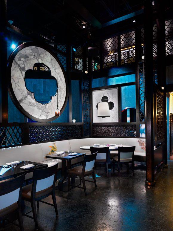 Best Hakkasan Las Vegas Verticle Corner Dinning Cafe Interior 640 x 480