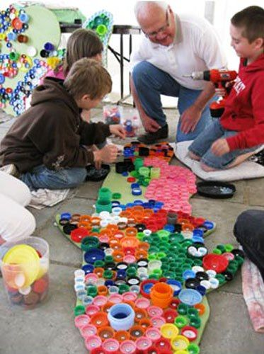 Artistic Ways to Recycle Bottle Caps, Recycled Crafts for Kids ...
