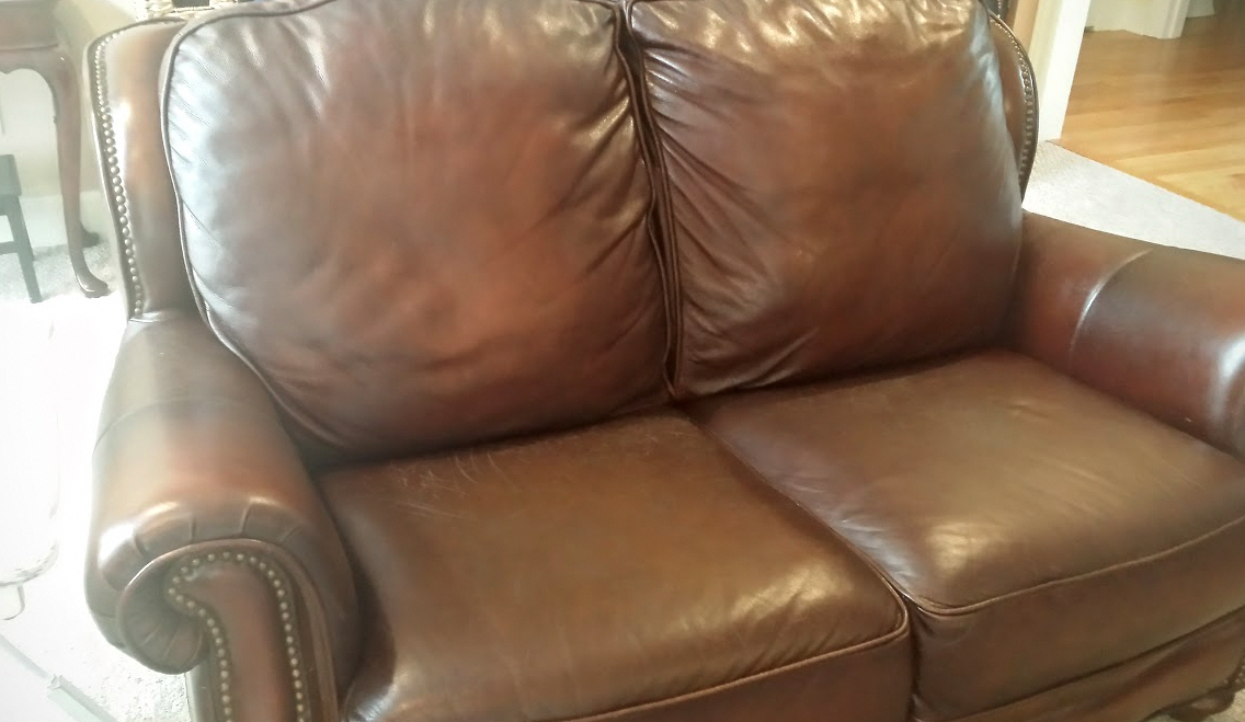 How To Make A Leather Couch Look New Again Conditioning Leather Life Hack Chemical Free Cleaning Green Living Homesteading Leather Couch Couch Leather Repair
