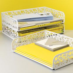 Vinea Stacking Letter Tray Contemporary Desk Accessories See Jane Work