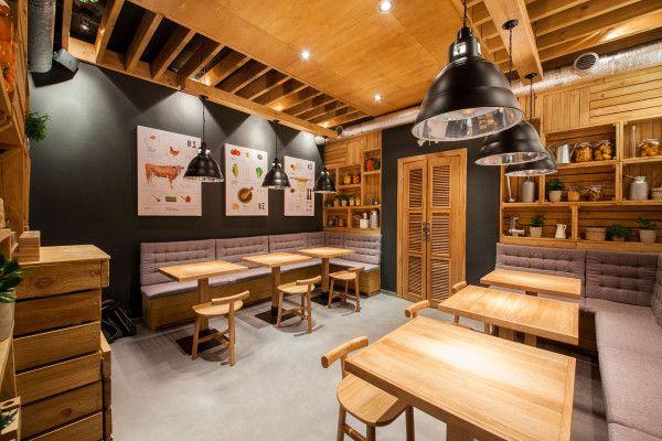 Designing a modern fast food restaurant restaurants - Restaurante umo barcelona ...