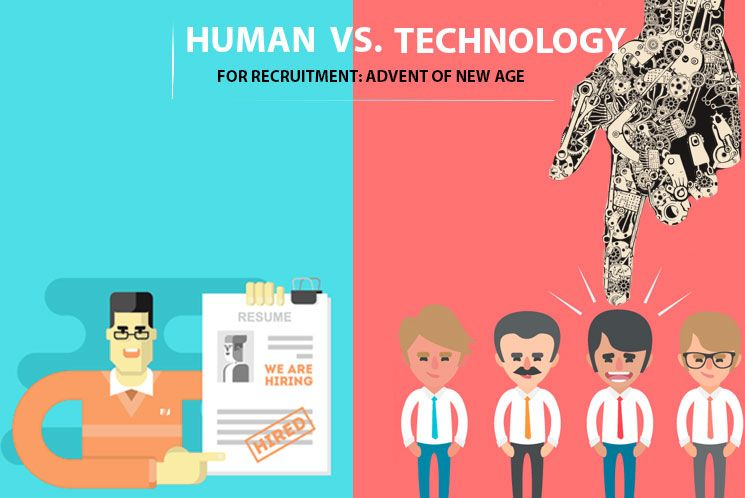 Human Vs Technology For Recruitment Advent Of New Age Humantelligence Recruitment Technology Human Resource Management