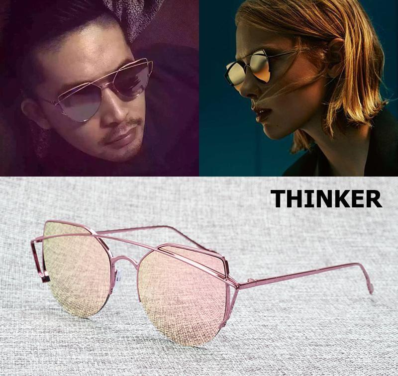 0aa5f3d11fb JackJad 2017 Fashion Women Metal Cat Eye Thinker Style Sunglasses Popular  Color Brand Design Sun Glasses Oculos De Sol Feminino