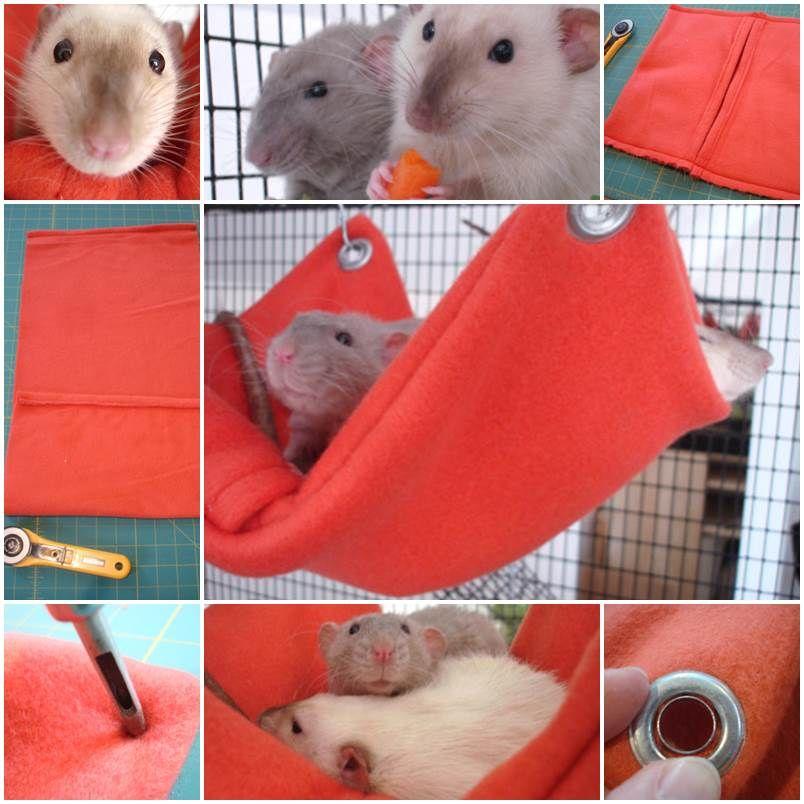 Diy Tutorial For Hammocks For Mice Rats Hamsters Gerbils Sugar