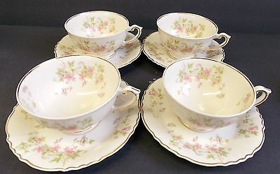 Syracuse China Federal Shape Stansbury Tea Cups Saucers